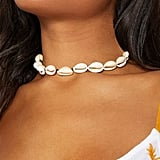 Pretty Little Thing White Shell Choker ($18)
