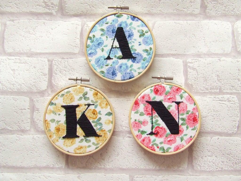 Monogrammed Embroidery Hoop ($20)