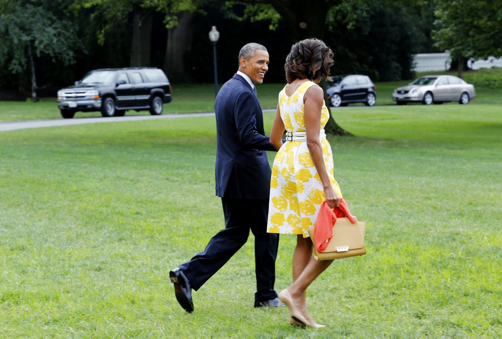 Barack and Michelle left the White House on Saturday.