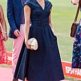 Meghan Markle Wearing a J.Crew Clutch at the Sentebale Polo Cup in 2018