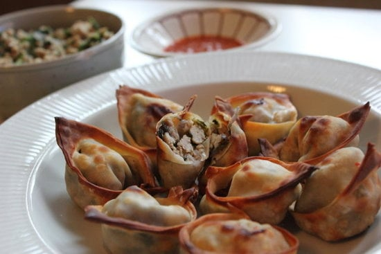Baked Thai Chicken Wontons
