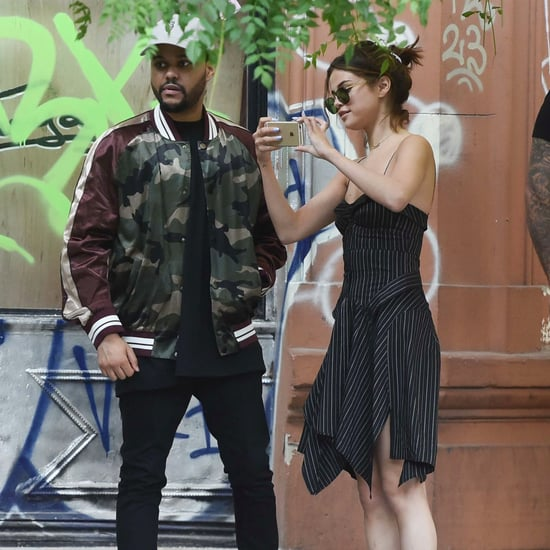Selena Gomez Isabel Marant Dress With The Weeknd March 2017