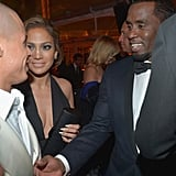 Casper Smart, Jennifer Lopez, and Sean Combs