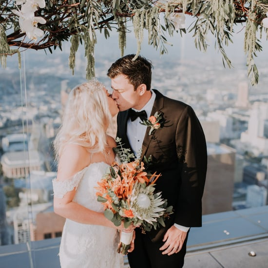 Skyspace LA Wedding With Slide