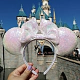 White Unicorn Iridescent Pink Lavender Ears ($30)