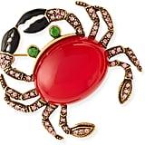 Oscar de la Renta Crab Brooch