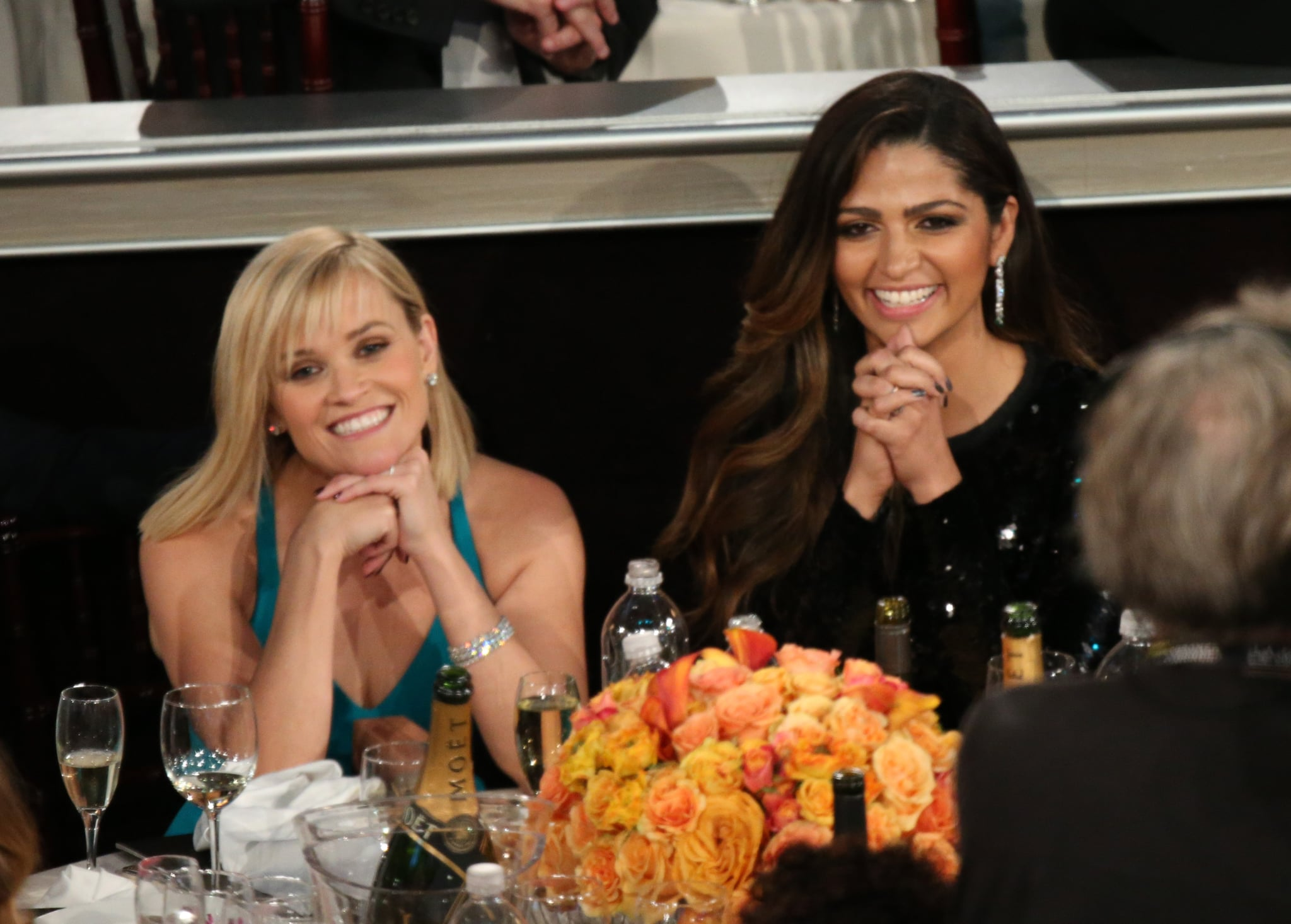 Reese Witherspoon and Camila Alves were basically picture perfect during the show. Source: Christopher Polk/NBC/NBCU Photo Bank/NBC