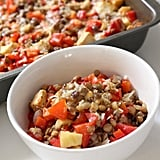 Wednesday: Red Capsicum and Lentil Bake