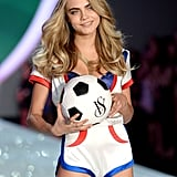 Cara Delevingne shared her sporty side.