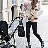 Lily Aldridge Takes Adorable Baby Dixie Out in the West Village