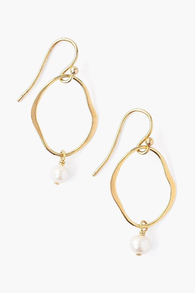 Chan Luu White Pearl and Gold Matisse Earrings