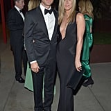 For the 2012 LACMA event, Jennifer turned up the heat in a supersexy Tom Ford gown with a down-to-there neckline. We can't decide what we love more: her plunging black creation or her dapper date, Mr. Justin Theroux.