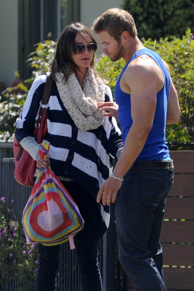 Sharni Vinson Gives Kellan Lutz a Kiss Goodbye in LA