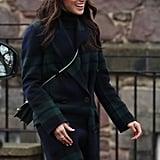فبراير: قامت ميغان بزيارة إلى قلعة إدنبرة في اسكتلندا.