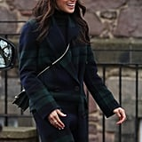 February: Meghan made a visit to Edinburgh Castle in Scotland.