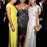 Kelly Sawyer, Jessica Alba, and Rachel Zoe at the Golden Globes Awards Party.
