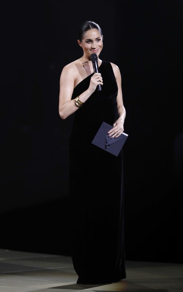 Meghan Markle's Black Dress at the 2018 Fashion Awards