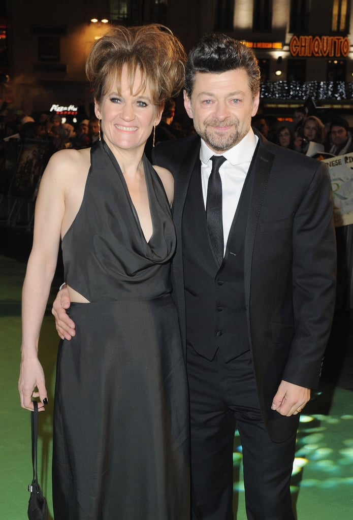 Andy Serkis posed with wife Lorraine Ashbourne.
