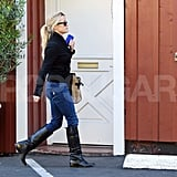 Reese Witherspoon walked to the Brentwood Country Mart.