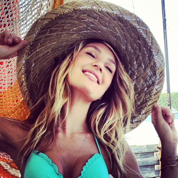 Candice Swanepoel basked in the sun of St. Barts. Source: Instagram user angelcandices