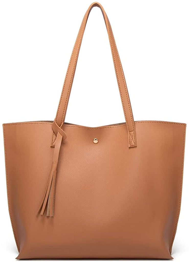 Soft Faux-Leather Tote Shoulder Bag
