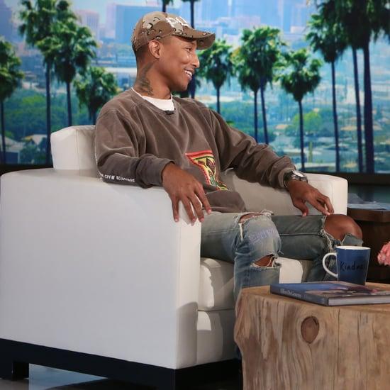 Pharrell Williams on The Ellen DeGeneres Show January 2017