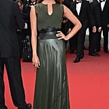 Alicia wore a dramatic dark green Louis Vuitton number at the premiere of Sicario at Cannes Film Festival.