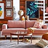 Drew Barrymore Flower Home Velvet Track Arm Sofa