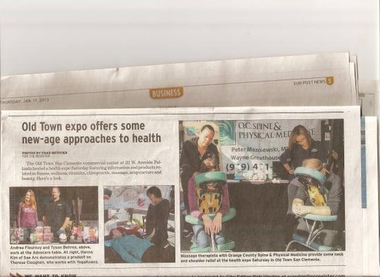 Orange County Sun Post pays Recognition to YogaKneez