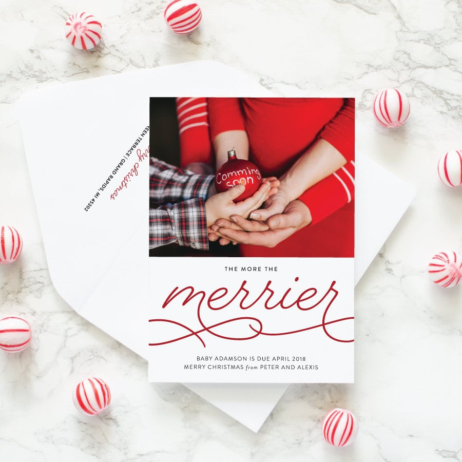 Pregnancy Announcement Christmas Card From Etsy 60 And Up The Best Websites To Create Beautiful Family Holiday Cards This Season Popsugar Family Photo 59