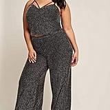 Forever 21 Plus Size Metallic Stripe Capri Pants