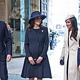 Just a few weeks later, William, Kate, Harry, and Meghan attended a Commonwealth Day Service at Westminster Abbey alongside the Queen.