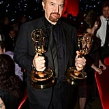 Louis C.K. showed off his Emmy wins at the Governors Ball.