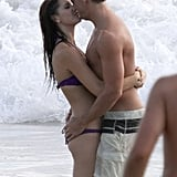 Dane Cook got cozy with his girlfriend in Maui in August 2011.