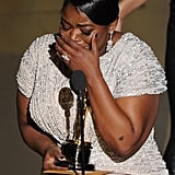 Octavia Spencer accepted her best supporting actress award.