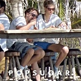Leonardo DiCaprio and Toni Garrn stopped for a bite to eat in Cabo.