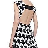 Theyskens' Theory Backless Black and White Geometric Print Dress ($465)