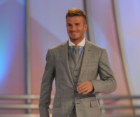 Slide Photo of David Beckham at FIFA Event in South Africa