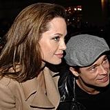 Brad Pitt und Angelina Jolie bei der LA-Premiere von Beowulf im November 2007.