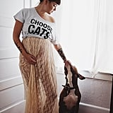A Knotted Tee and Maxi Skirt