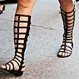 The high-rise gladiator sandal is sticking around for as long as possible.