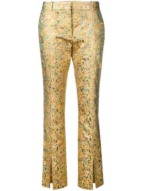 Victoria Beckham Front Split Slim-fit Trousers