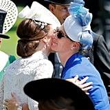 Kate Middleton and Zara Tindall at Royal Ascot in 2017