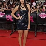 Nina looked great in this shiny black Tadashi Shoji mini-dress at the 2010 MuchMusic Video Awards.