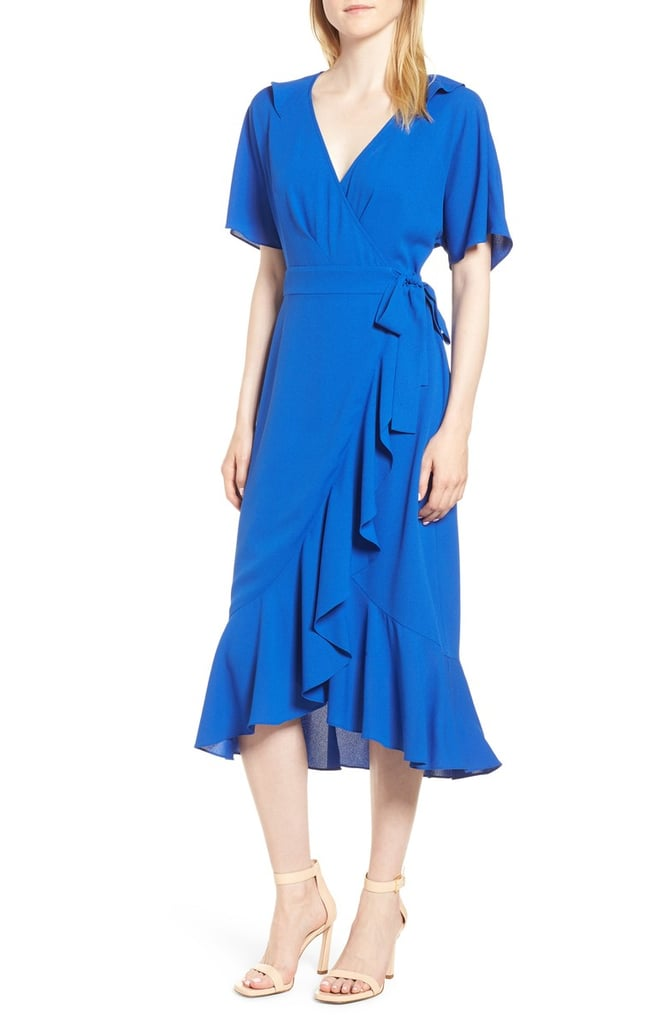 9524fb79be Whistles Abigail Frill Wrap Midi Dress | Summer Dresses 2018 ...
