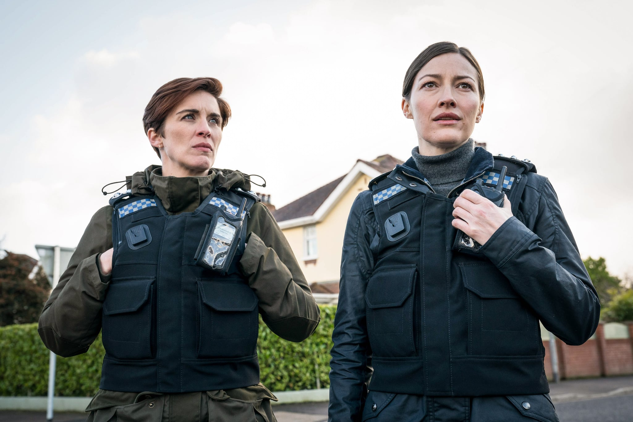 WARNING: Embargoed for publication until 00:00:01 on 16/03/2021 - Programme Name: Line of Duty S6 - TX: n/a - Episode: Line Of Duty - Ep 1 (No. n/a) - Picture Shows:  DI Kate Fleming (VICKY MCCLURE), DCI Joanne Davidson (KELLY MACDONALD) - (C) World Productions - Photographer: Steffan Hill
