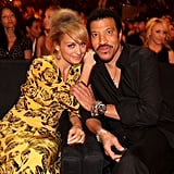 Nicole and Lionel Richie at a concert.