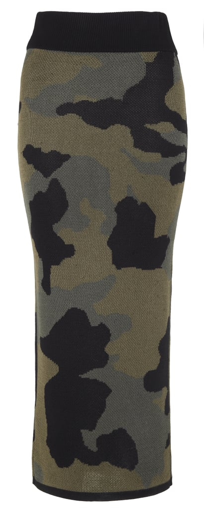 Rihanna for River Island Camouflage Maxi Skirt ($53)