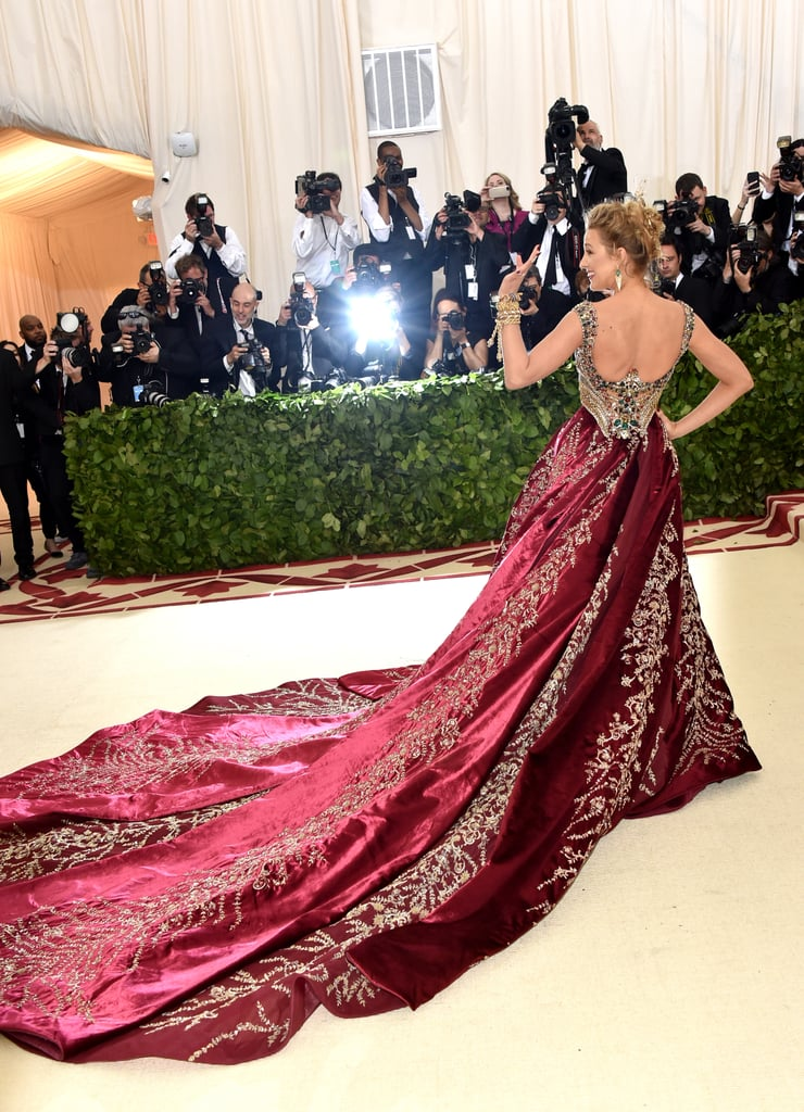 Image result for blake lively met gala 2018 back view