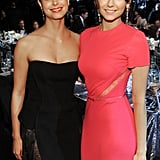 Homeland's Morena Baccarin posed with Nina Dobrev inside the event.